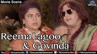 Comedy scenes | hindi comedy movies | govinda & reema lagoo | aunty no 1 | hindi movies