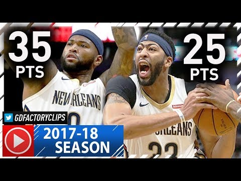 DeMarcus Cousins & Anthony Davis CRAZY Highlights vs Clippers (2017.11.11) - 60 Pts, 25 Reb, CLUTCH!