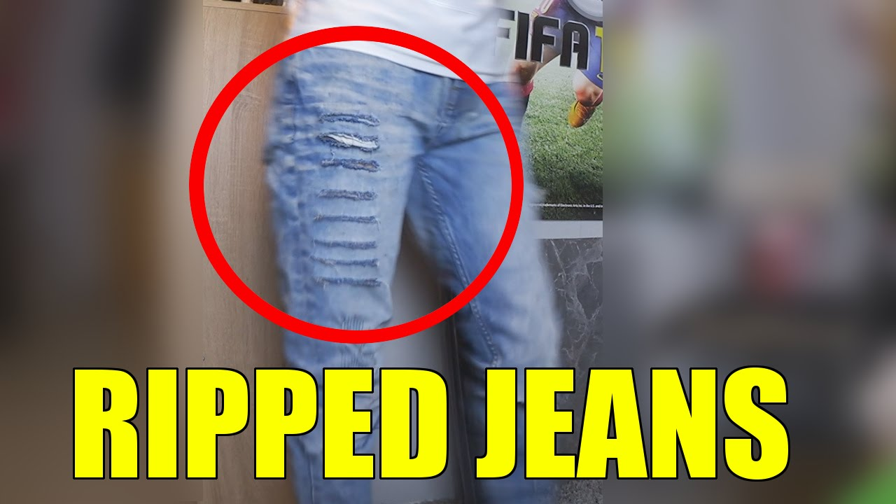 ripped jeans destroyed jeans selber machen i xthestylerz youtube. Black Bedroom Furniture Sets. Home Design Ideas