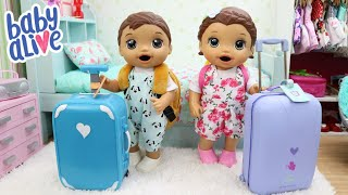 BABY ALIVE GÊMEOS LAURINHA E FELIPINHO ARRUMANDO AS MALAS PRA VIAJAR PARA O NORDESTE
