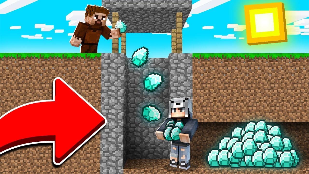 KUYUDA GİZLİ ELMAS DEPOSUNU BULDUK! 😱 - Minecraft