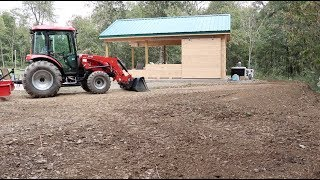 #559 Grading around Pool House with Compact Tractor and Land Plane