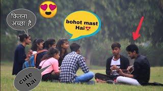 Epic Blind man singing prank on cute girls || Gulabi Aankhen funny pranks
