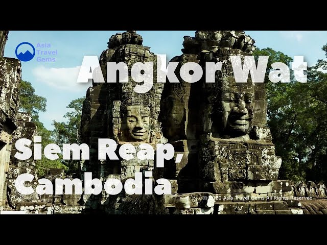 Angkor Wat in Siem Reap Cambodia - UNESCO World Heritage Site You Must See and Visit