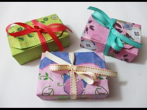 DIY : #166 Paper Gift Box - No Glue ❤
