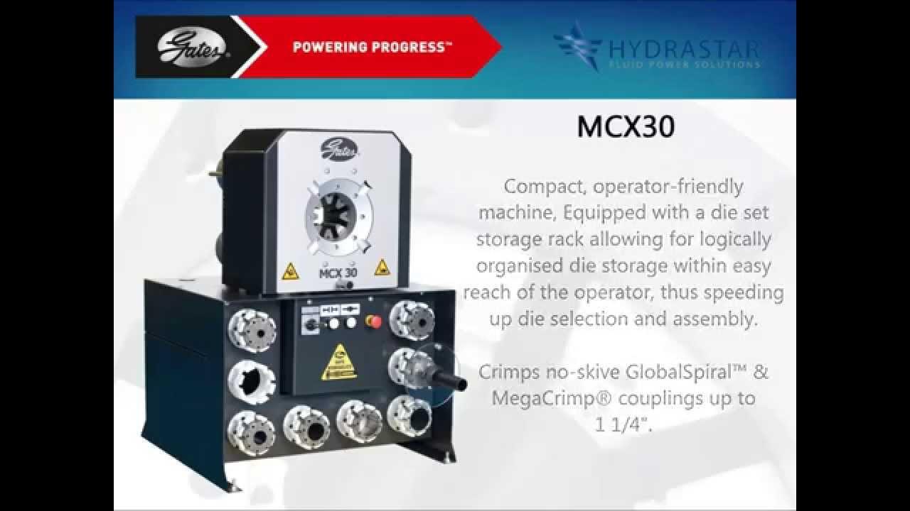 Gates Hydraulic MCX30 Hose Crimping Machine - YouTube