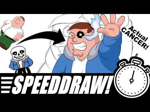 FAMILY GUY PETER GRIFFIN x SANS UNDERTALE - SpeedDraw! Ep. 1