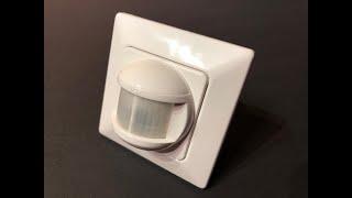 Czujnik ruchu jako włącznik światła pojedynczy lub schodowy BAT PIR 180 UP