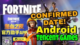 Fortnite Android Release Date | Confirmed By Tencent Games How To Download Fortnite China! (Android)