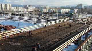Работа по строительству эстакады продолжается / 974 километр трассы М-5 «Урал» г.Тольятти