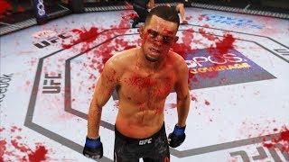 САМЫЙ КРОВАВЫЙ БОЕЦ и его  НЕВЕРОЯТНЫЕ НОКАУТЫ в UFC 3 НЕЙТ ДИАЗ