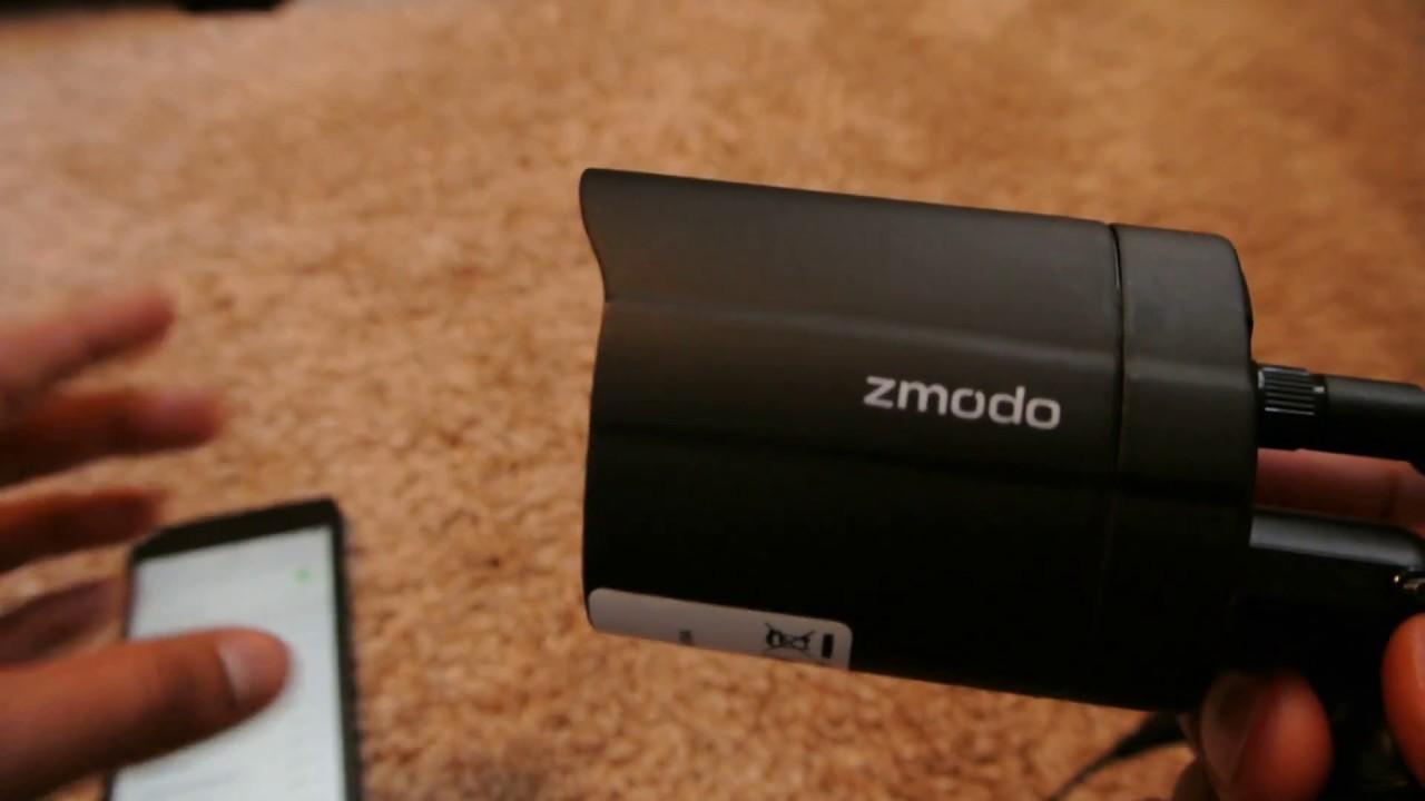 Zmodo Outdoor Wireless 720p HD Security Cameras Setup with Zmodo APP