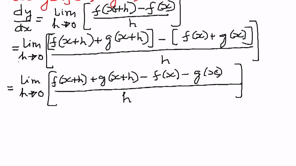 Differentiation Rules - Proof of Sum Rule