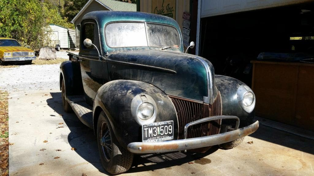 1940 FORD STREET ROD PICK UP (barn find) - YouTube