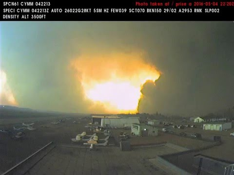 Fort McMurray as seen from the airport webcam May 4th 2016