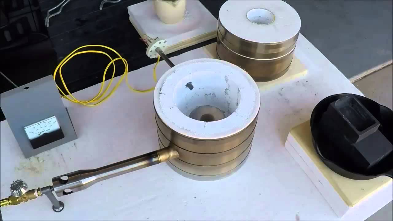 Silver and Gold Melting Furnace-Kiln - YouTube