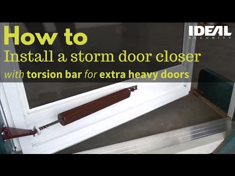 How To Install Or Replace A Storm Screen Door Closer Heavy Closers With Torsion Bars