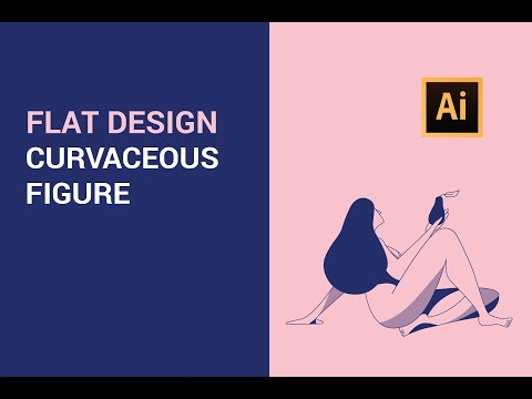 Step by Step Adobe Illustrator Tutorial - Flat Design Curvaceous Figure (2019) thumbnail