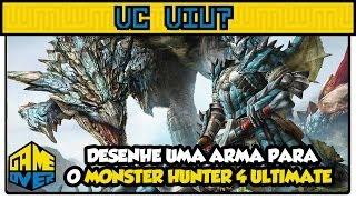 Desenhe uma arma para o Monster Hunter 4 Ultimate - VC VIU?