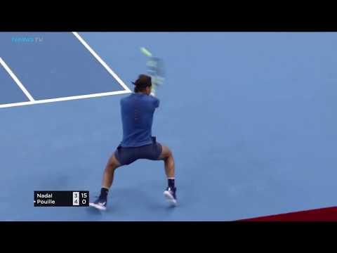Thrilling rallies between Rafa Nadal and Lucas Pouille!   China Open Beijing 2017