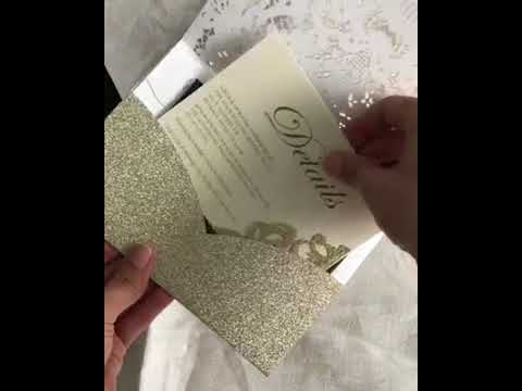 MaryGold& Black Invitation