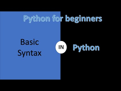 Basic syntax | python for beginners | Learn Python | Python Tutorial thumbnail