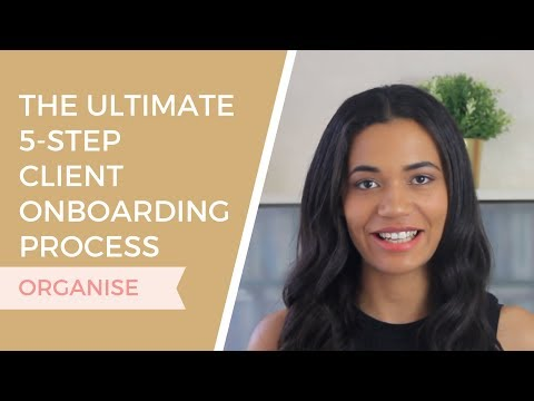 The Ultimate 5-Step Client Onboarding Process | Organize Your Graphic Design Business