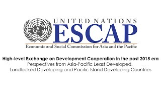 High-level Exchange on Development Cooperation in the post 2015 era