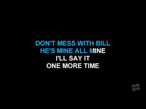 Don't Mess With Bill in the style of The Marvelettes karaoke video