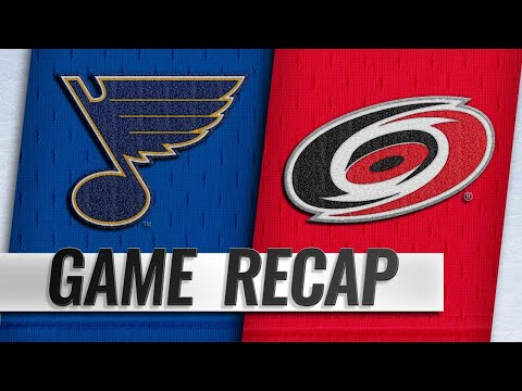 Hurricanes beat Blues for fourth straight win