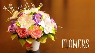 Flor de fita estilo Kanzashi – Master Class