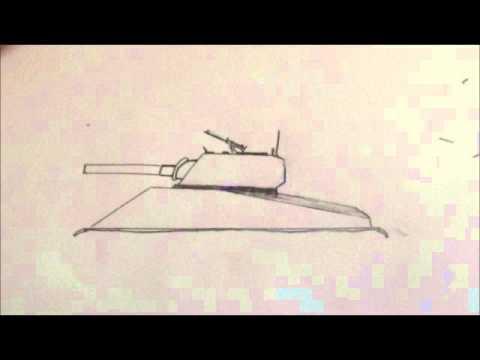 طريقة رسم دبابة