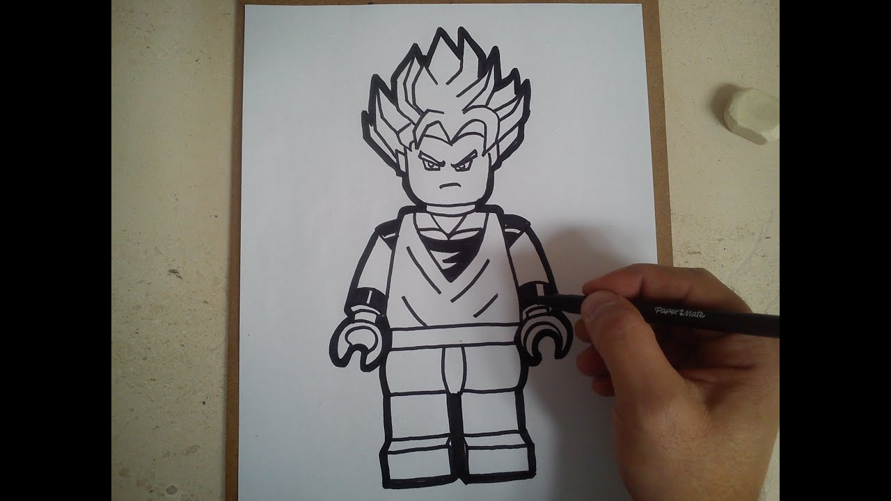 Como Dibujar Goku Ssj Lego Draw