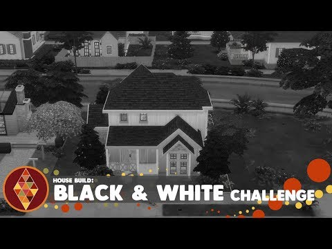 Black&White Challenge - The Sims 4 - House Build | HD thumbnail