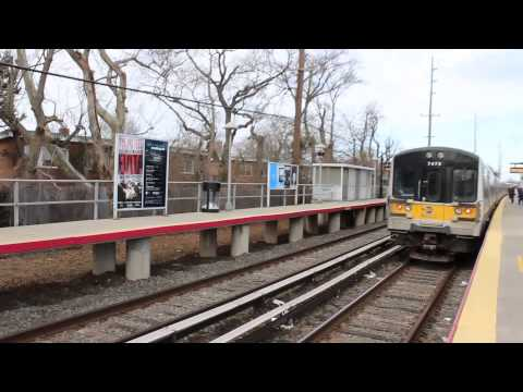 LIRR Far Rockaway Branch : Atlantic Terminal - bound M7s at Cedarhurst