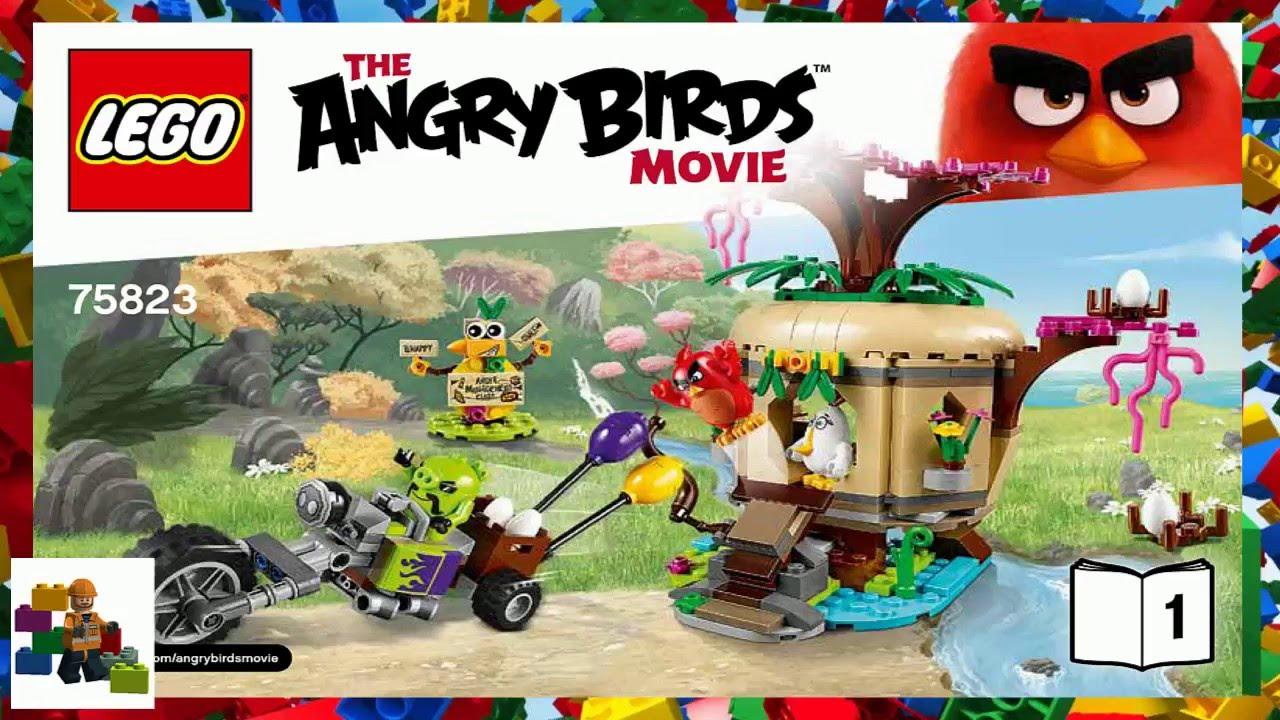 Lego Instructions Angry Birds Bird Island Egg Heist 75823