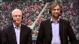 Franz Beckenbauer und Jürgen Klopp - TV Kommentar in 50 Jahre Sportschau Show