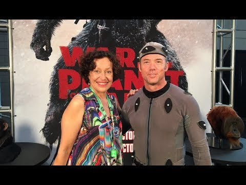 War for the Planet of the Apes  Bad Ape Chase and Karin Konoval & Terry Notary in character