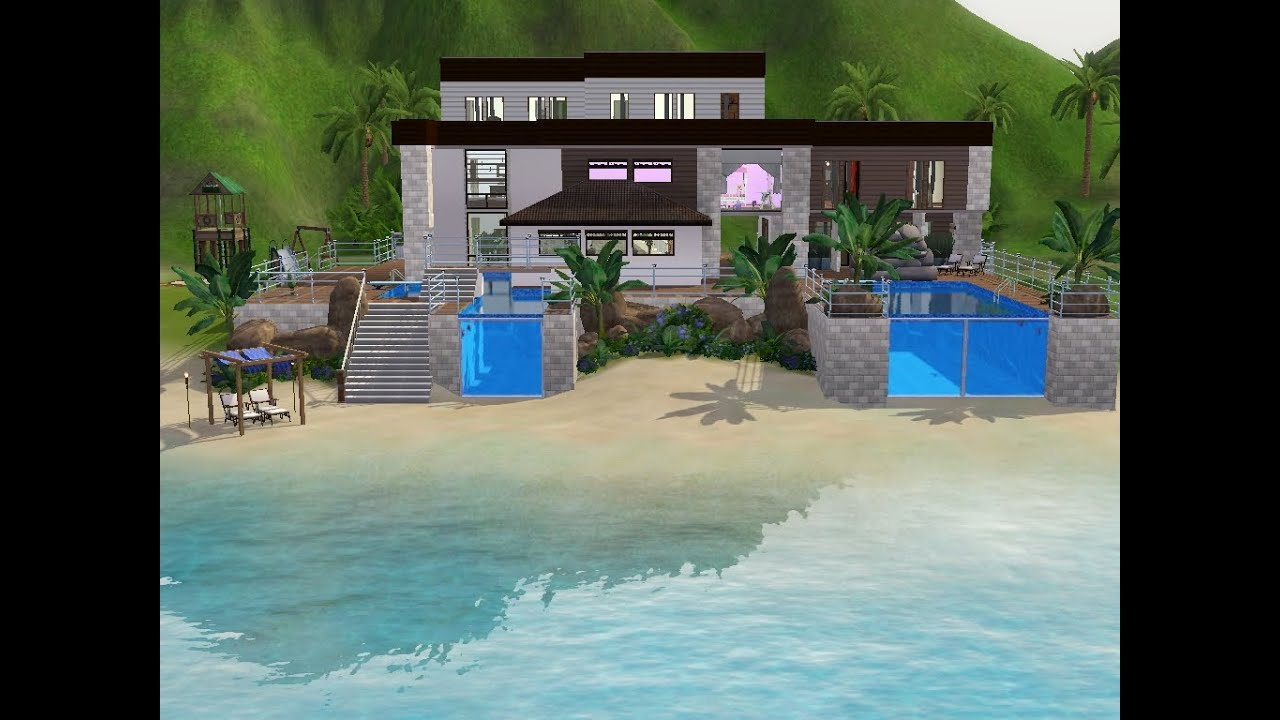 sims 3 haus bauen let 39 s build traumhaus am meer. Black Bedroom Furniture Sets. Home Design Ideas