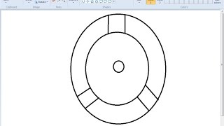 How to draw Uchiha Izuna's Mangekyou Sharingan on MS Paint