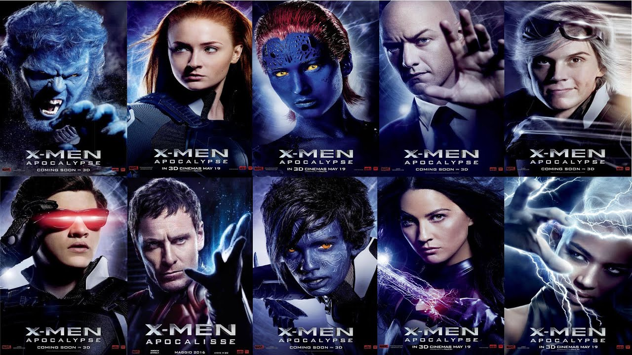 New Character Posters For X Men Apocalypse