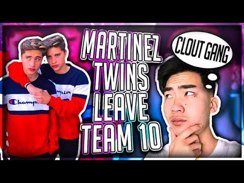 Thumbnail: Reacting To The Martinez Twins Leaving TEAM 10