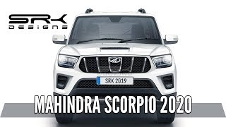 Mahindra Scorpio 2020 (Front) - Rendering - Making Video   SRK Designs