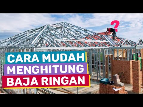 menghitung kebutuhan baja ringan atap jurai cara untuk rumah terlengkap youtube