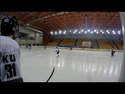 Gokalp Solak of Koç University Hockey Team Hit Against Buz Korsanlar - 2013/2014 Season