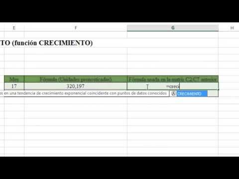 81 Funcion Excel PRONOSTICO CRECIMIENTO FRECUENCIA