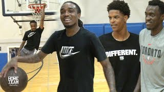 Shareef O'Neal & Quavo Vs. NBA & College Players at UCLA Run - Rico Hines