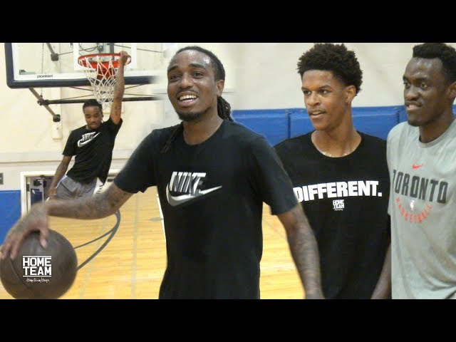 Shareef ONeal & Quavo Vs. NBA & College Players at UCLA Run - Rico Hines