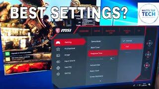 MSI OPTIX MAG241C monitor settings
