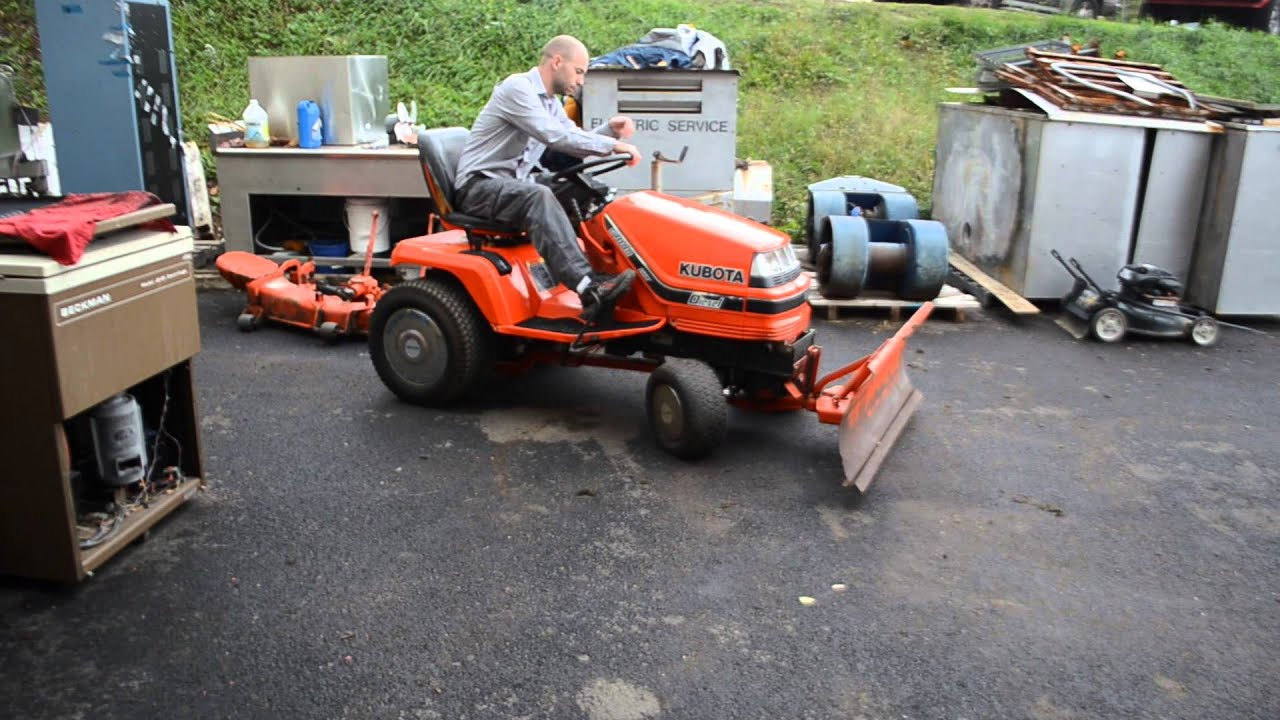kubota g1800 garden tractor 54 sel riding lawn mower w snow